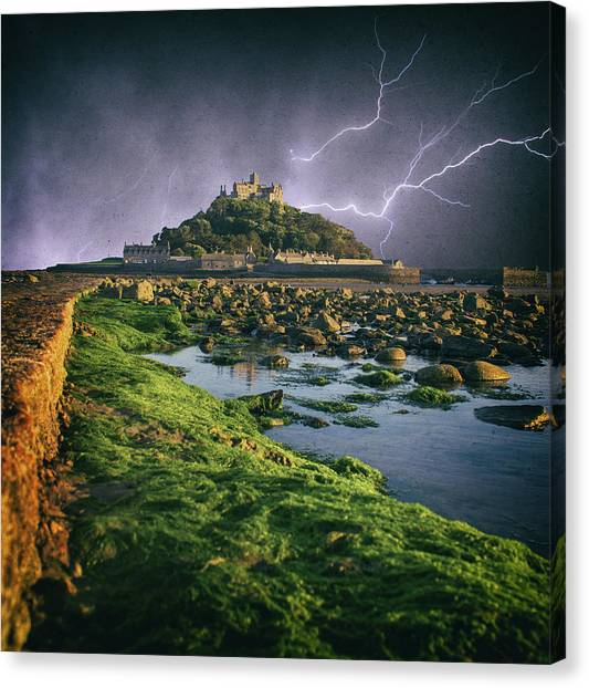 Fortification Canvas Print - Lightning Storm by Martin Newman