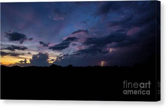 Lightning Sunset Canvas Print