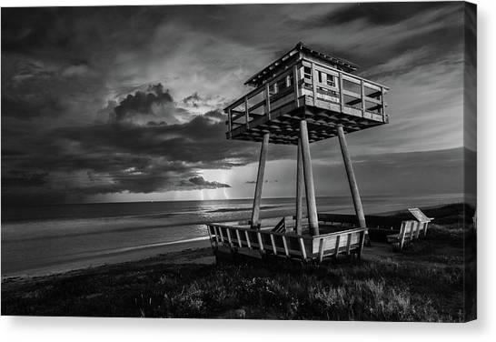 Lightning Watch Tower Canvas Print