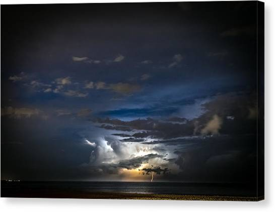 Lightning's Water Dance Canvas Print