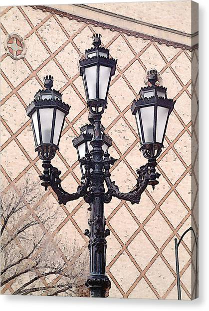 Lightpost Canvas Print by Carl Perry