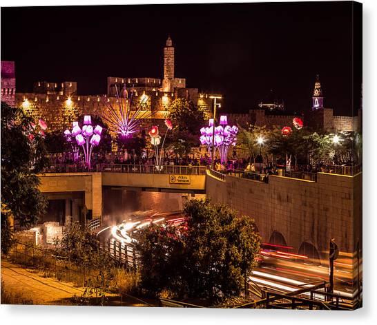 Lights In Jerusalem Canvas Print