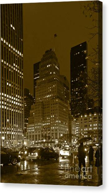 Lights Of 5th Ave. Canvas Print