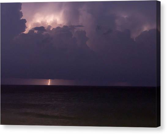 Lights Over The Ocean Canvas Print