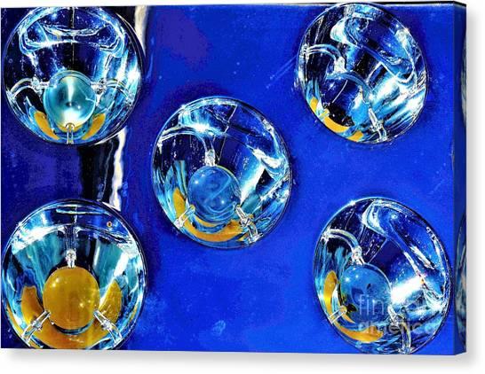 Lights Under Glas Canvas Print