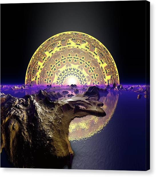 Canvas Print featuring the digital art Lightscape 24 by Robert Thalmeier