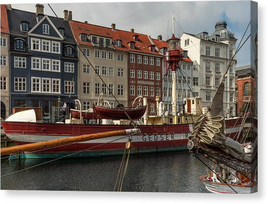 Sightseeing Canvas Print - Lightvessel Gedser by Capt Gerry Hare