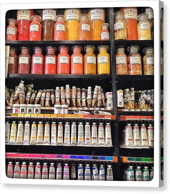 Supplies Canvas Print - Like A Kid In A Candy Shop. #art by Shireen Dhaliwal