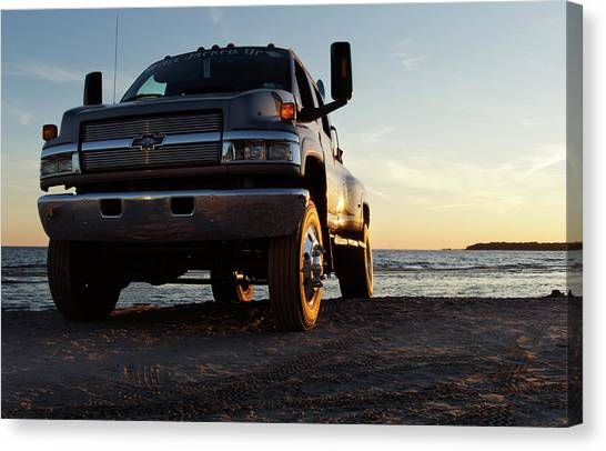 Chevy Truck Canvas Print - Like A Rock by Peter Chilelli