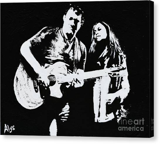 Like Johnny And June Canvas Print