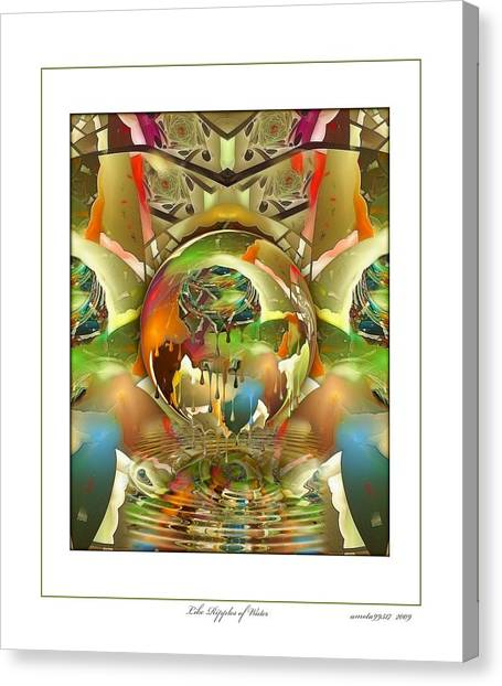 Like Ripples Of Water Canvas Print by Gayle Odsather