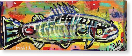 Lil' Funky Folk Fish Number Ten Canvas Print