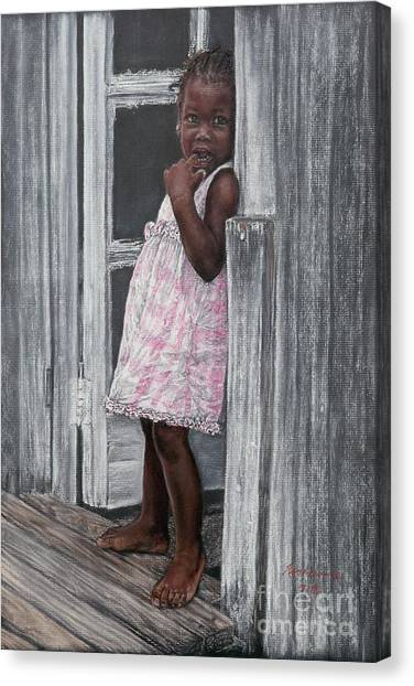 Lil' Girl In Pink Canvas Print