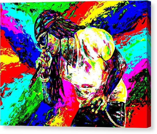 Hip Hop Canvas Print - Lil Wayne by Mike OBrien