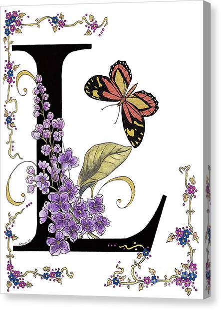 Lilac And Large Tiger Butterfly Canvas Print