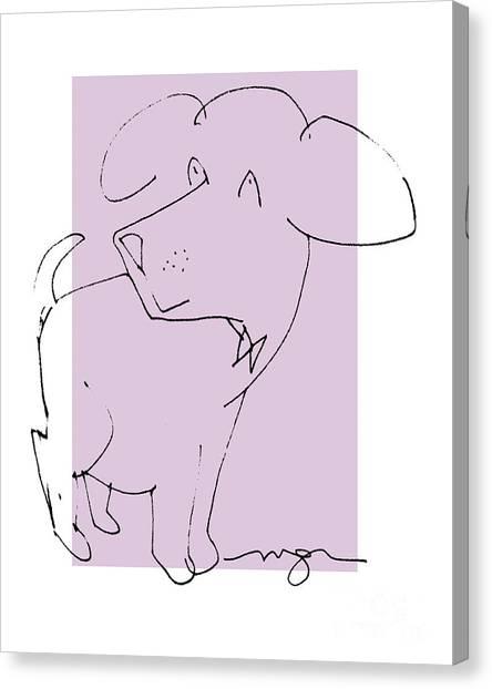 Lilac Dog Canvas Print