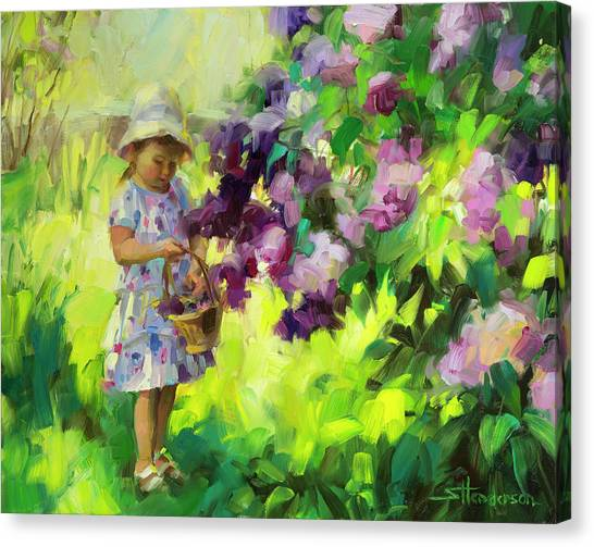 Bush Canvas Print - Lilac Festival by Steve Henderson