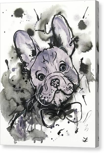 Lilac Frenchie Canvas Print