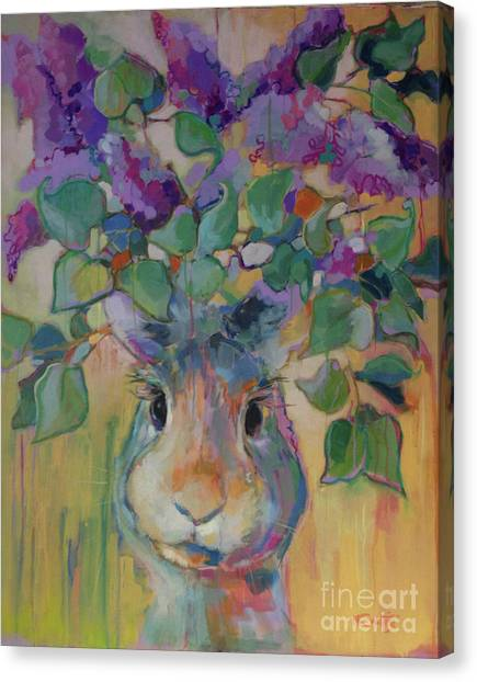 Lavendar Canvas Print - Lilac by Kimberly Santini