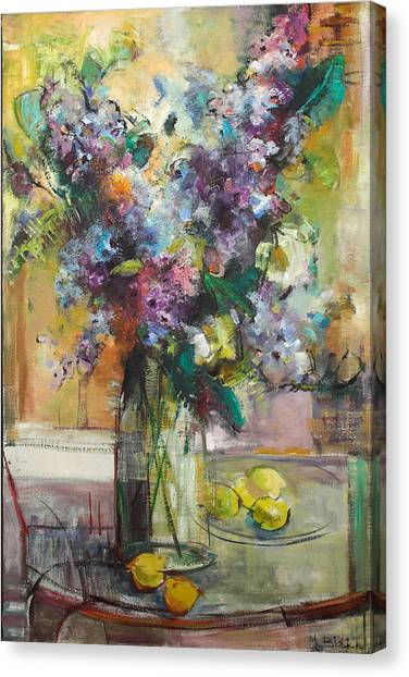 Lilacs And Lemons Canvas Print by Blake Originals - Marjorie and Beverly
