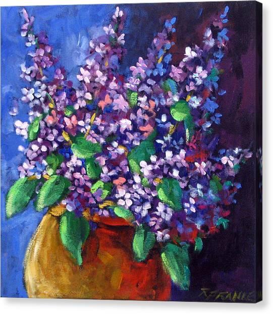 Poppys Canvas Print - Lilacs by Richard T Pranke