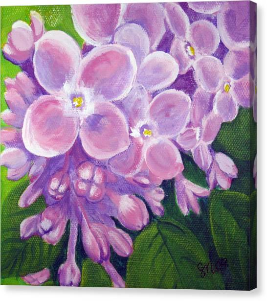 Lilacs Canvas Print by Sharon Marcella Marston