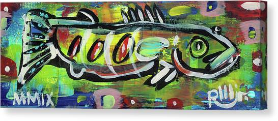 Lil'funky Folk Fish Number Eighteen Canvas Print