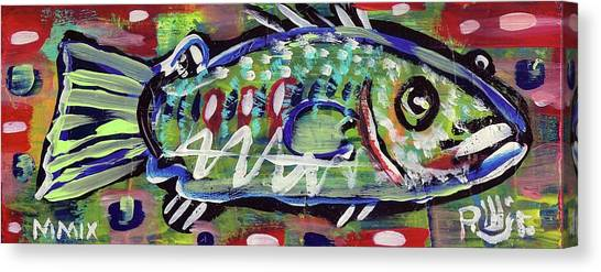 Lil'funky Folk Fish Number Fourteen Canvas Print