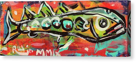 Lil'funky Folk Fish Number Nineteen Canvas Print
