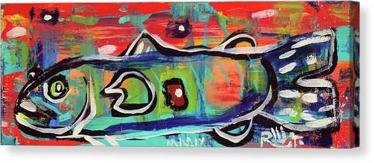 Lil'funky Folk Fish Number Seventeen Canvas Print