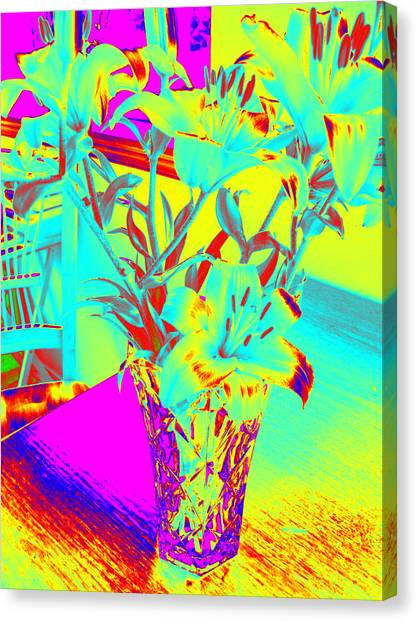 Lilies #4 Canvas Print