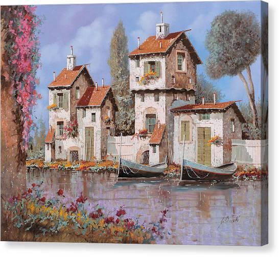 Villages Canvas Print - Lilla by Guido Borelli