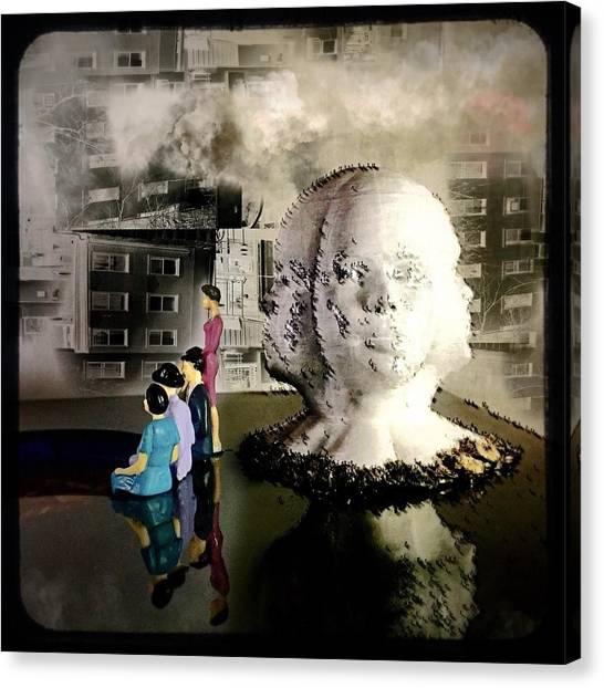 Lilliput In Wasteland Canvas Print by Maxim Tzinman