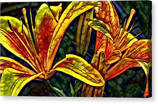 Lilly Fire Canvas Print