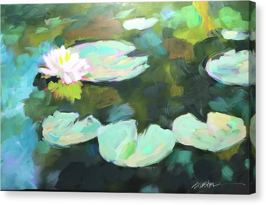 Lillypad Reflections Canvas Print
