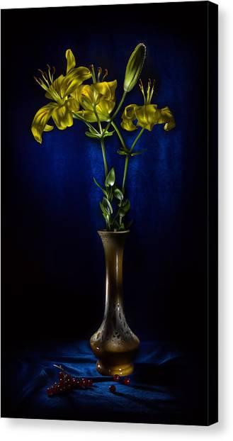 Blue Canvas Print - Lily by Alexey Kljatov