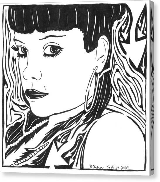 Lily Allen Maze Canvas Print by Yonatan Frimer Maze Artist