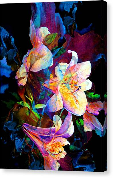 Abstract Lily Canvas Print - Lily Fiesta Garden by Hanne Lore Koehler
