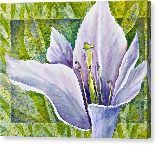 Lily In Purple Canvas Print