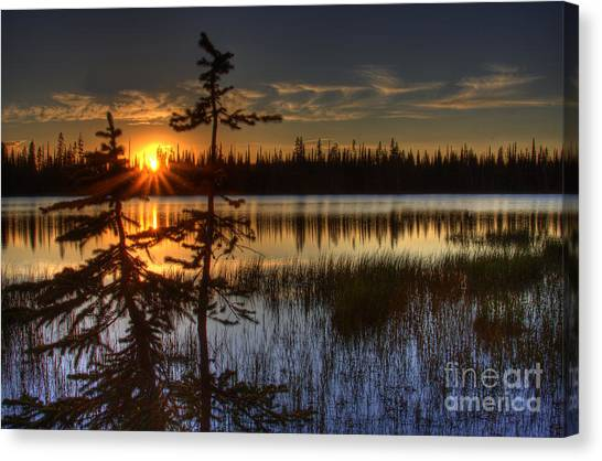 Lily Lake Sunset 2 Canvas Print