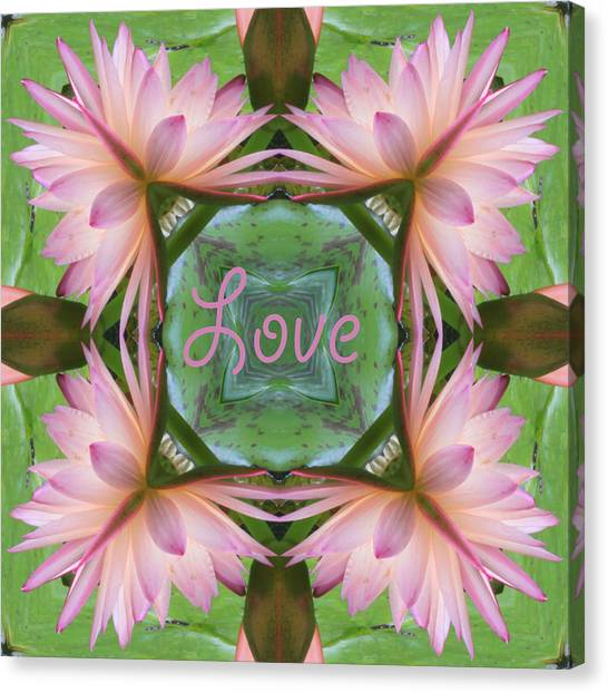 Lily Pad Love Canvas Print
