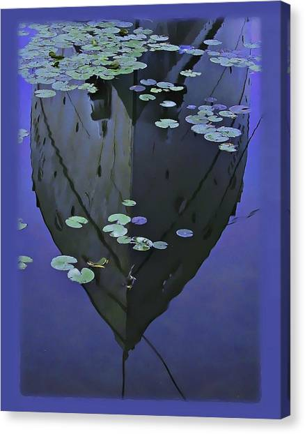 Lily Pads And Reflection Canvas Print