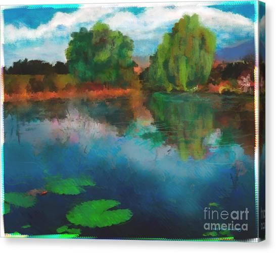 Lily Pond A La Torrie Canvas Print