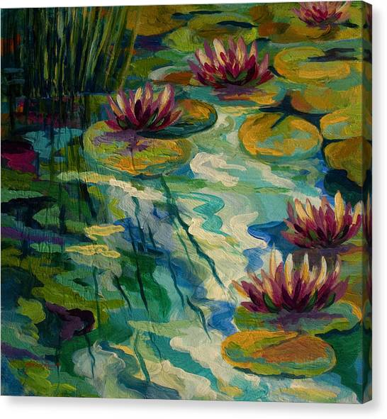 Lilies Canvas Print - Lily Pond II by Marion Rose