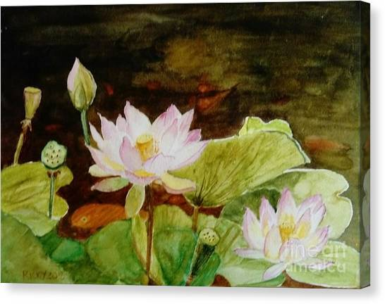 The Lily Pond - Painting  Canvas Print