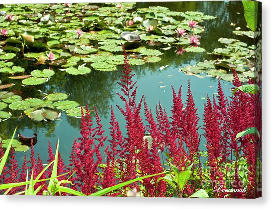 Monet Lilies Canvas Print   Lily Ponds At Monetu0027s Garden By Loriannah Hespe