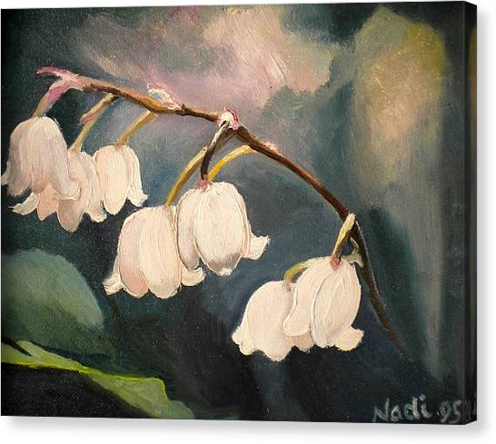 Lily Whites Canvas Print