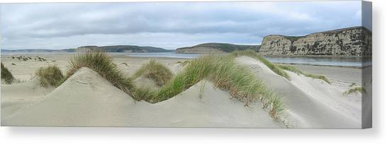 Limantour Spit On A Grey Day Canvas Print by Bob Bennett