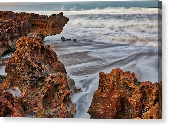Canvas Print featuring the photograph Limestone Ocean by David A Lane