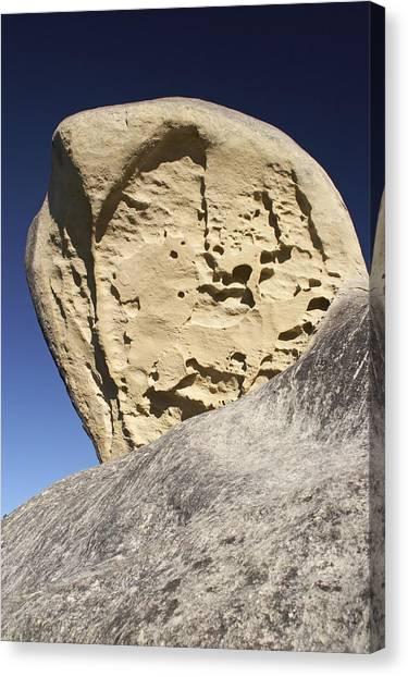 Limestone Rock Formation Canvas Print by Geoff Bryant